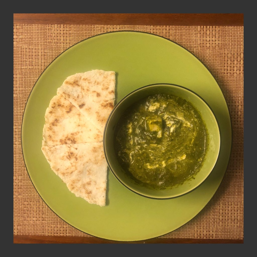 Keto Palak Paneer With Coconut Paratha