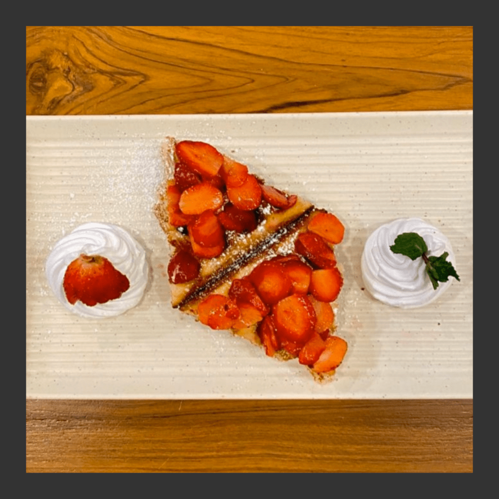 Keto Strawberry Waffle